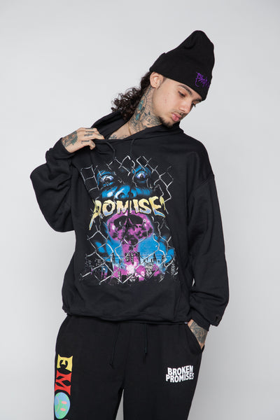 Destroy the World Hoodie Black