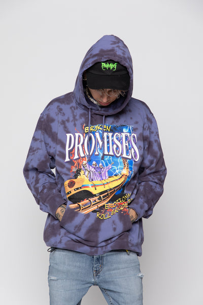 Up Down Tie Dye Hoodie Wash Blue