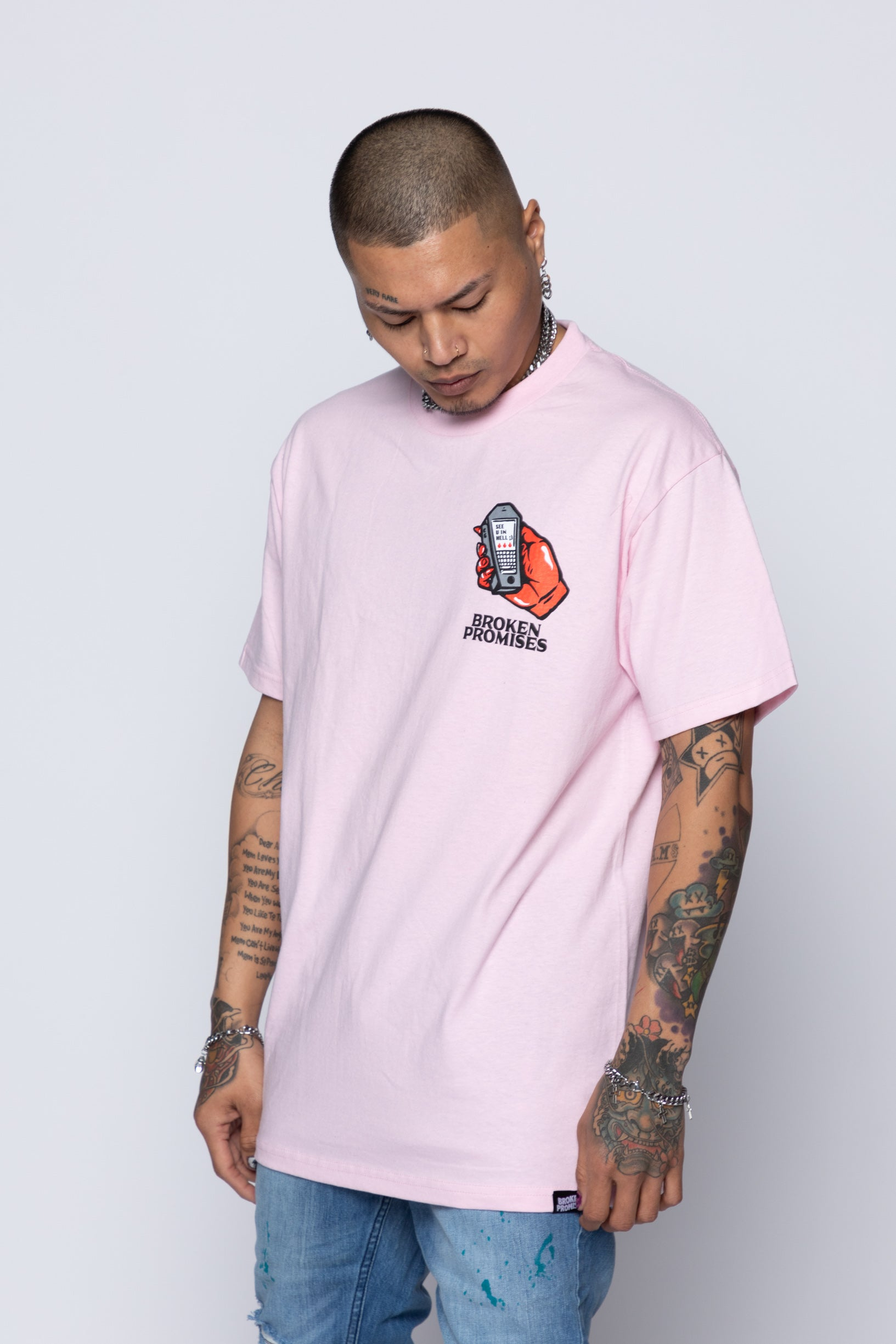 Lucky Lucifer Tee Pink