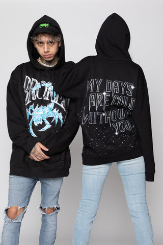 Days Are Cold Paint Spatter Hoodie