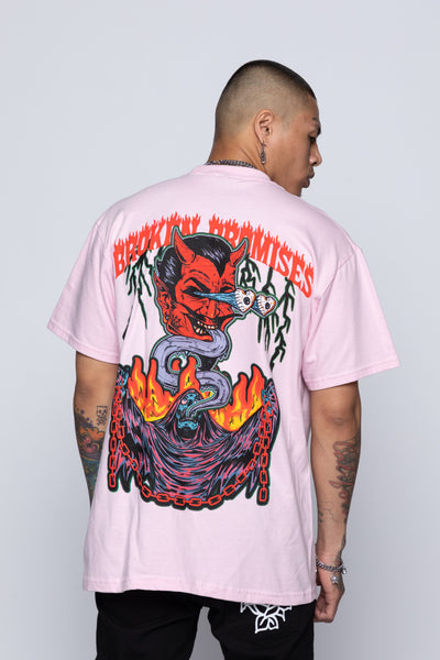 Worst in Me Tee Pink