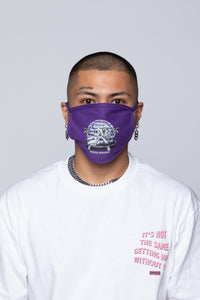 Hang Twenty Purple Face Covering