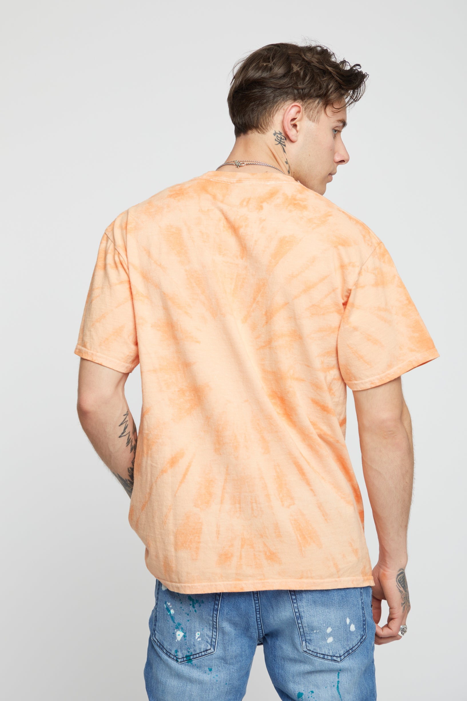 Bad Blood Tie Dye Tee Orange