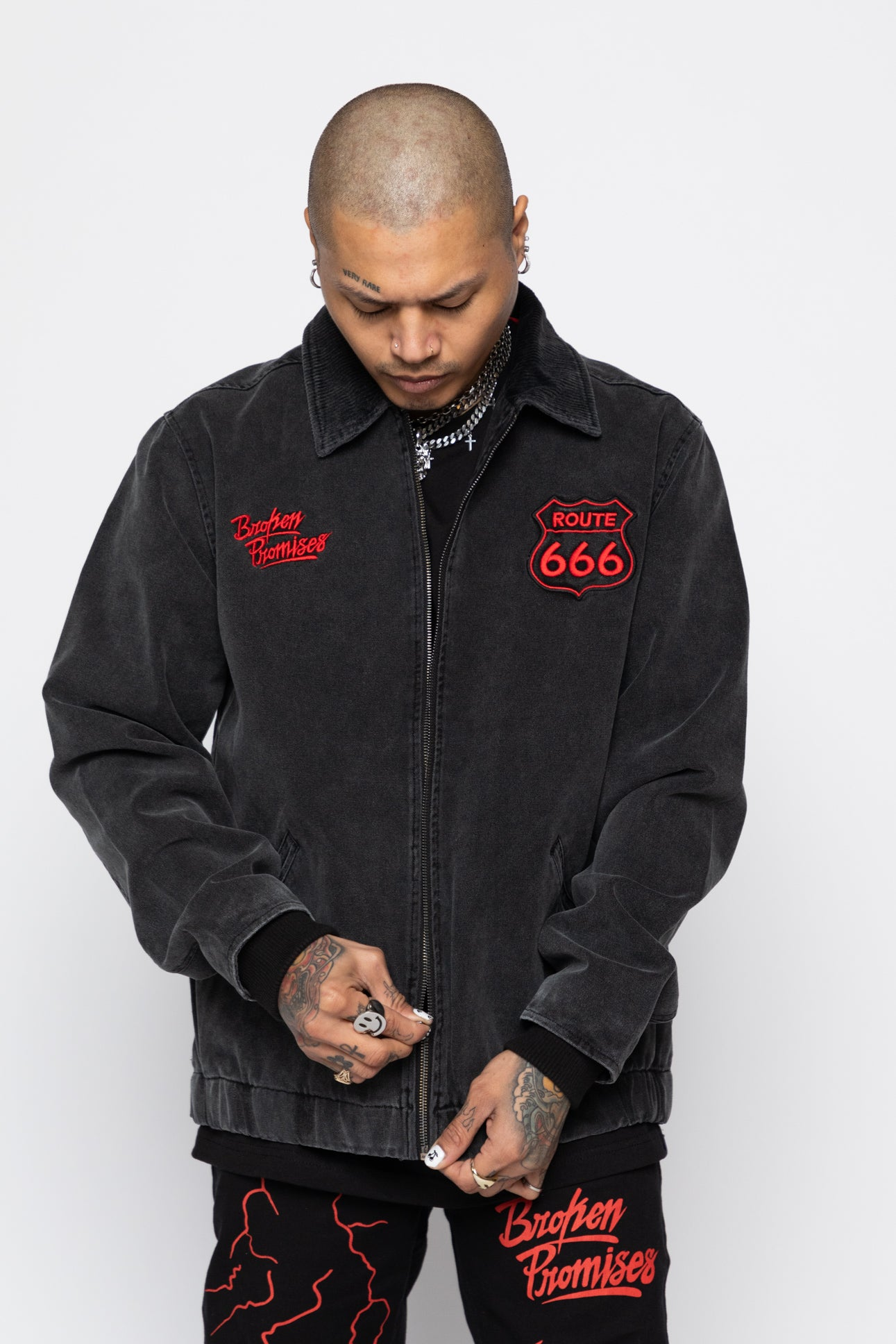 Highway to Hell Canvas Trucker Jacket
