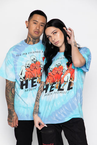Friends are in Hell Tie Dye Tee