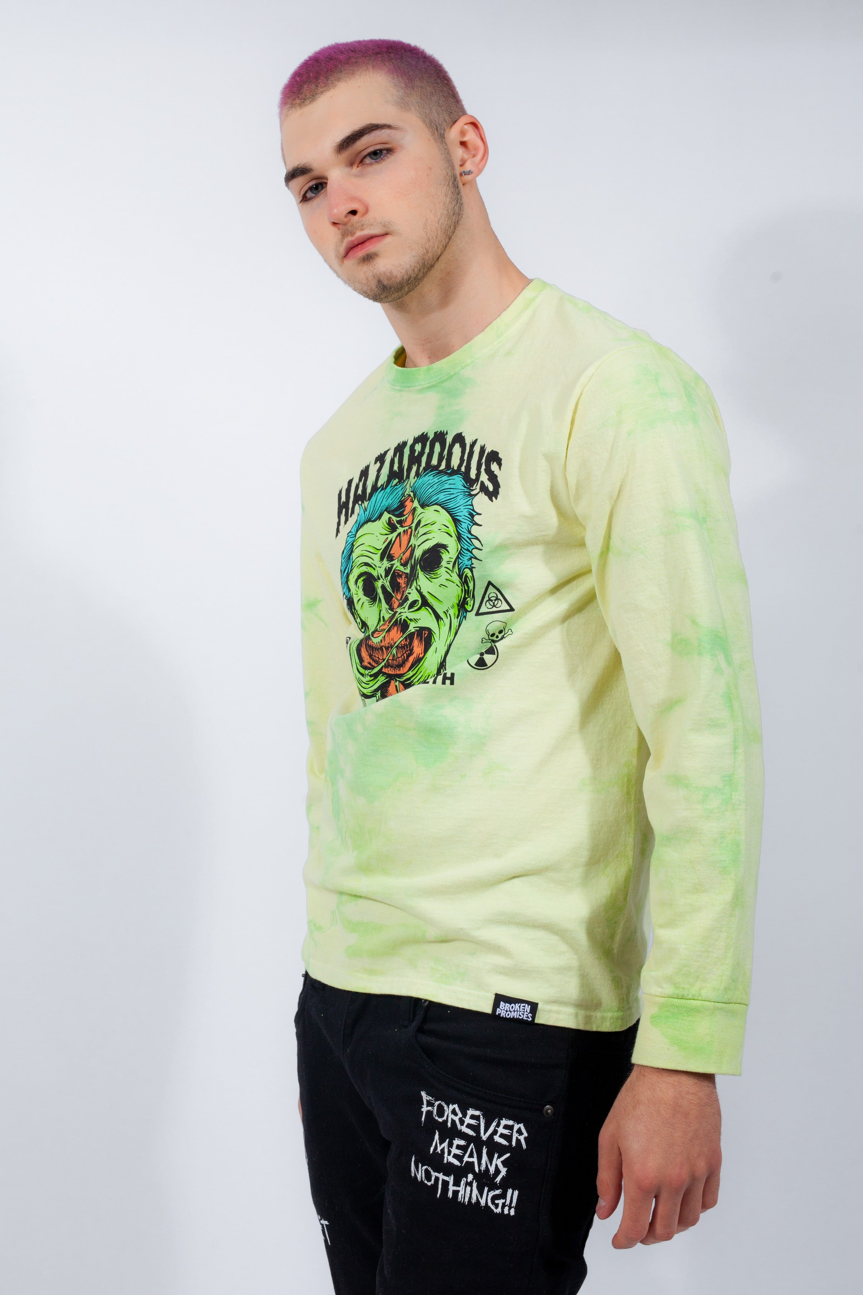 Hazardous Tie Dye L/S Yellow