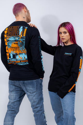 "Radioactive L/S ""Blue/Orange Print"""