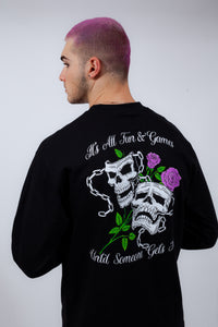 Fun & Games L/S Tee Black