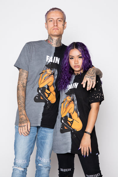 Pain Anime Split Dye Tee