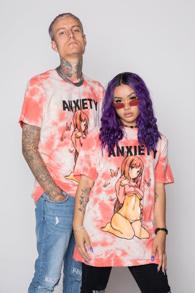 Anxiety Anime Tie Dye Tee