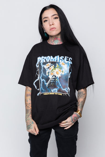 Brought You Flowers Tee Black