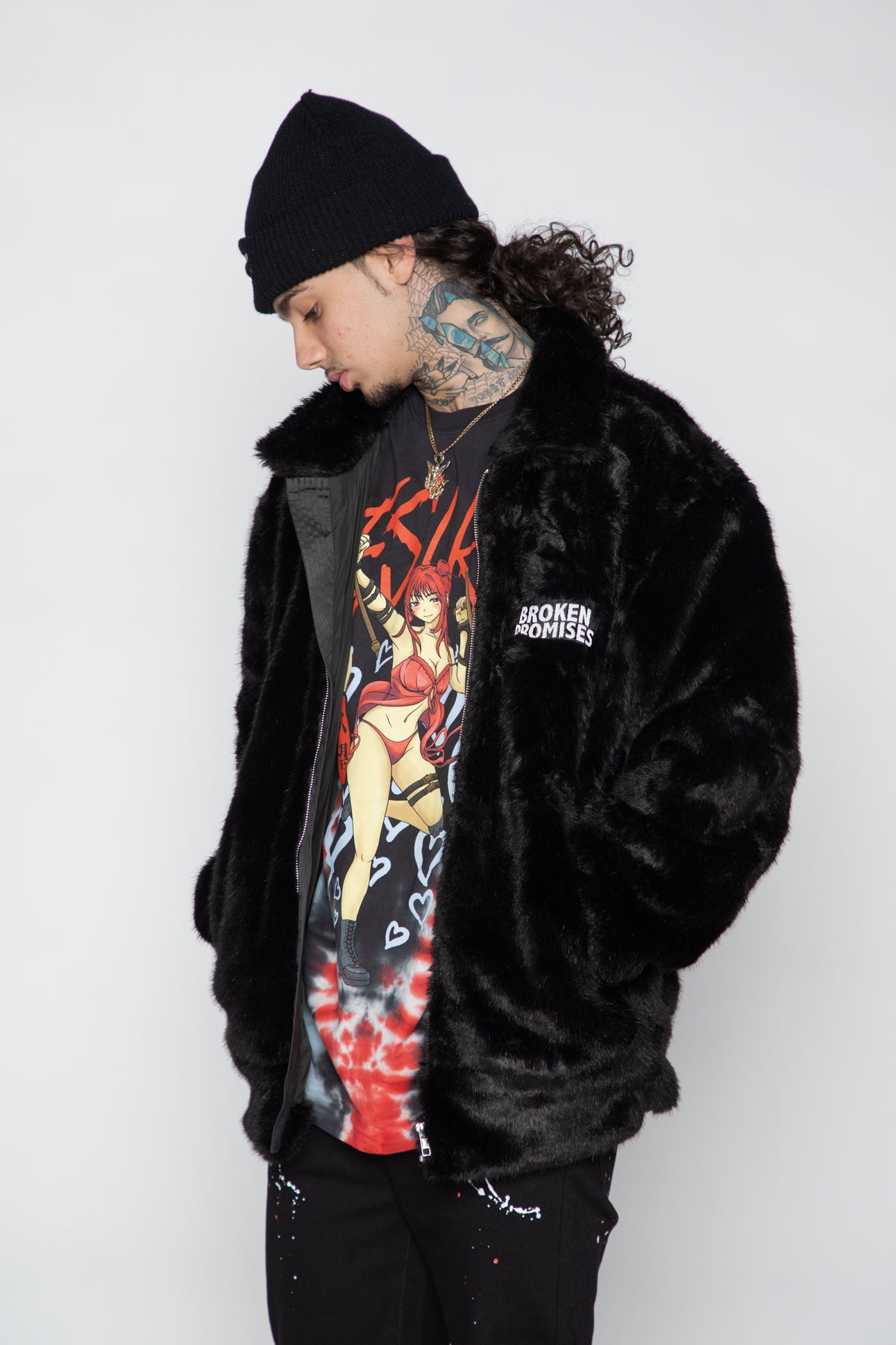 Graveyard Faux Fur Jacket