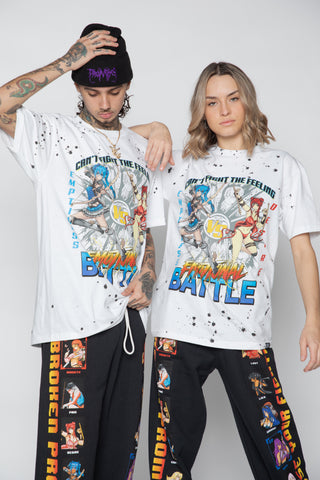 Fight the Feeling S/S Spatter Tee White