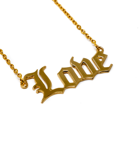 Love Nameplate Necklace