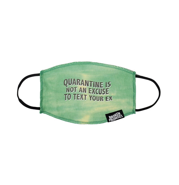 Quarantine Green Tie Dye Face Covering