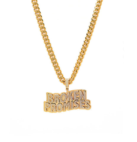 BP x Saint Midas XL Oversized Iced Wave Logo Cuban Chain YG