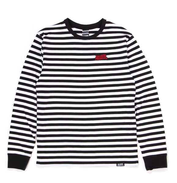Paranoid Striped Wht/Blk L/S