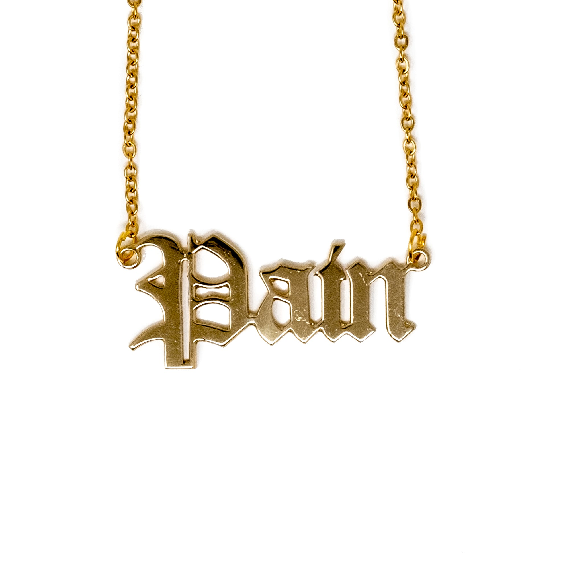 Pain Nameplate Necklace