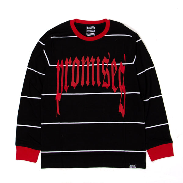 Ruthless Stripe L/S Red