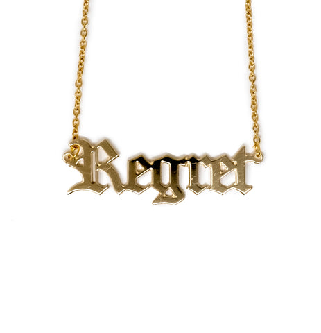 Regret Nameplate Necklace
