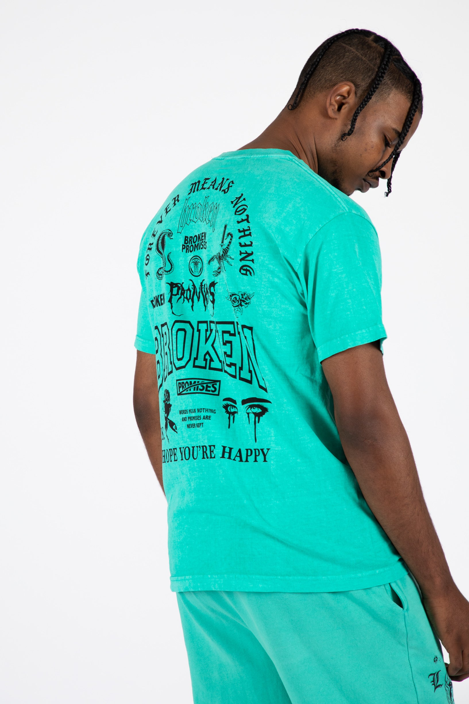 Greatest Hits Tee Pigment Dye Green