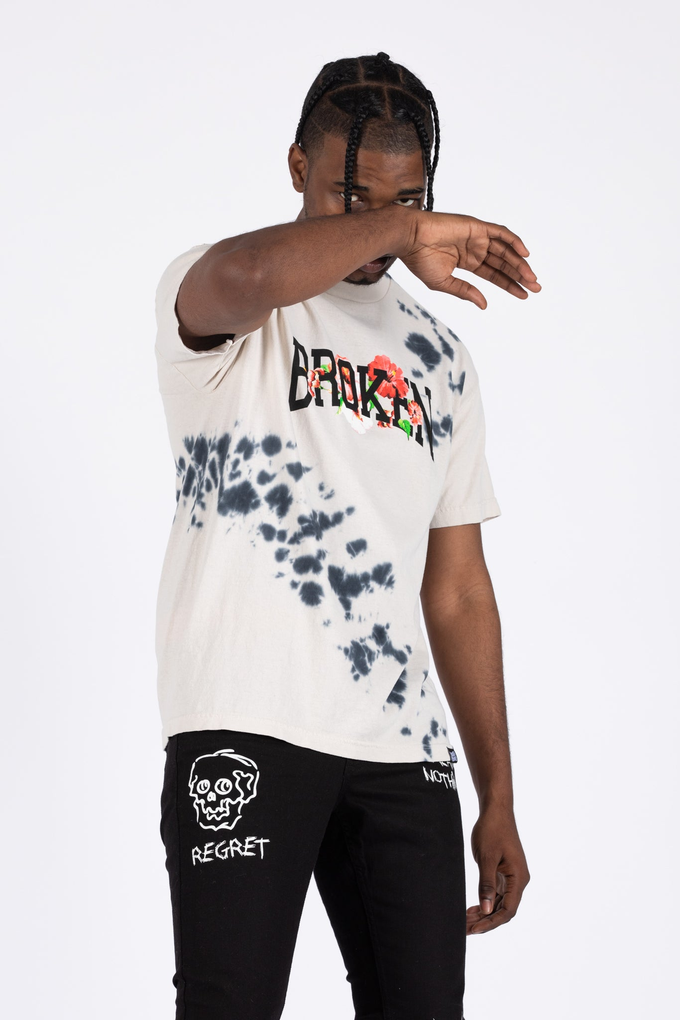 Drop In Tie Dye Tee Blk/Wht