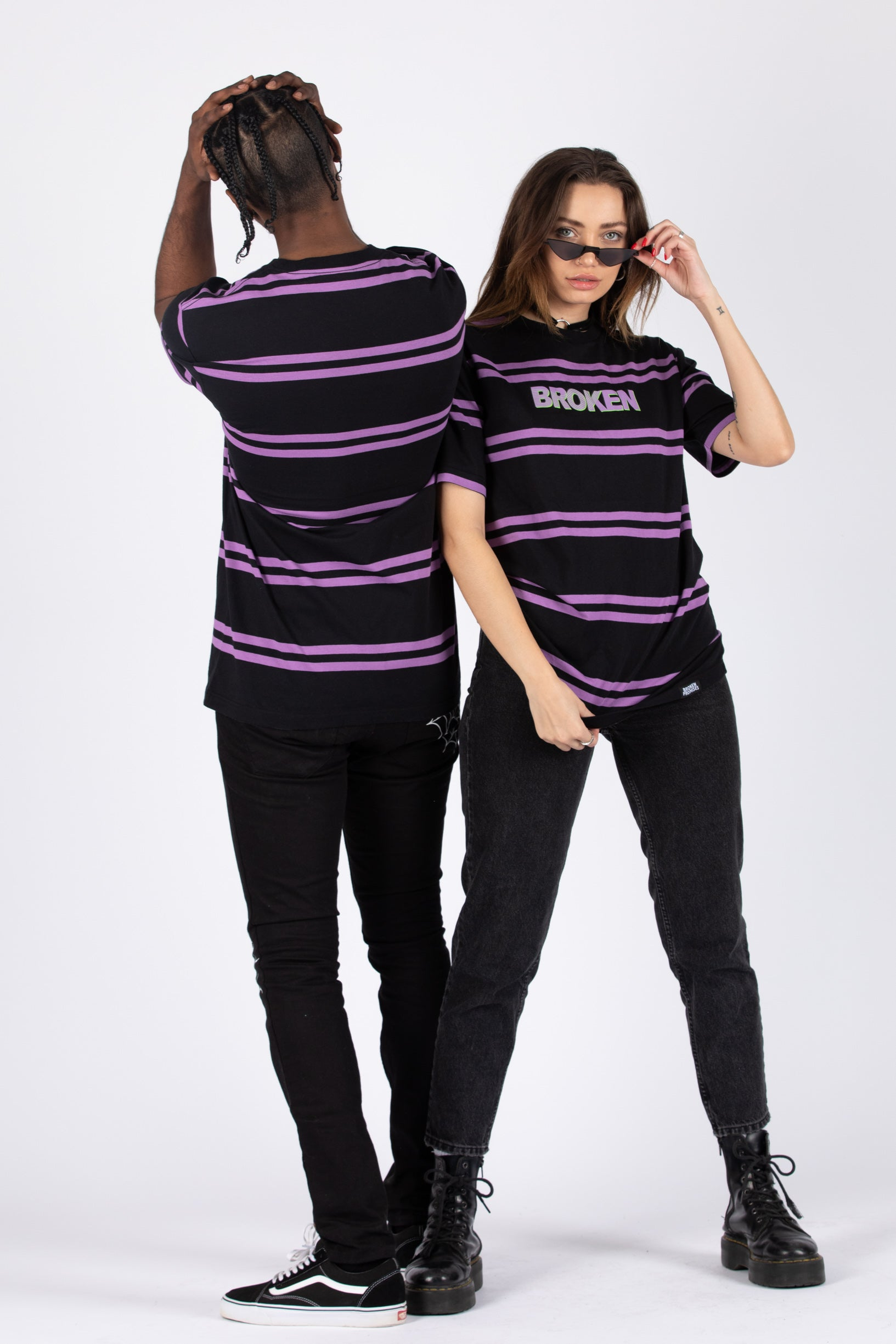 Crosshairs Stripe Tee Purple