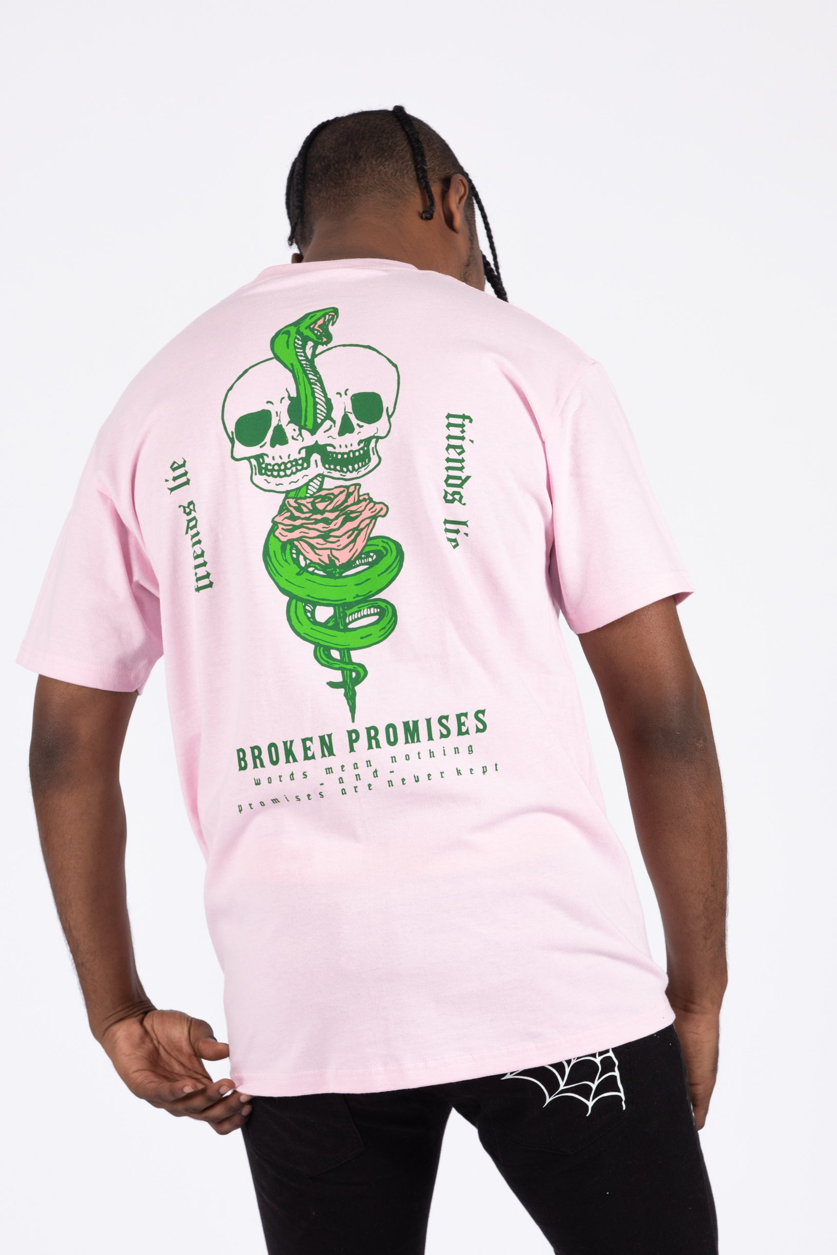 Friends Lie Tee Pink