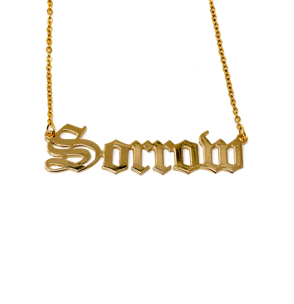 Sorrow Nameplate Necklace