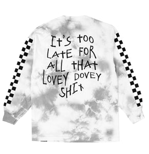 Too Late Tie Dye L/S Tee Light Grey