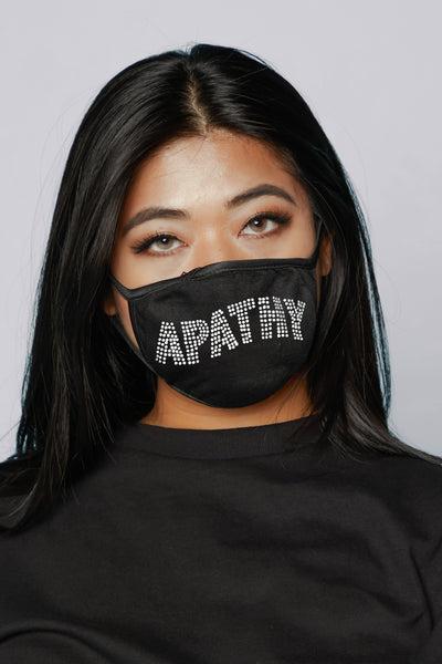 Apathy Rhinestone Face Covering