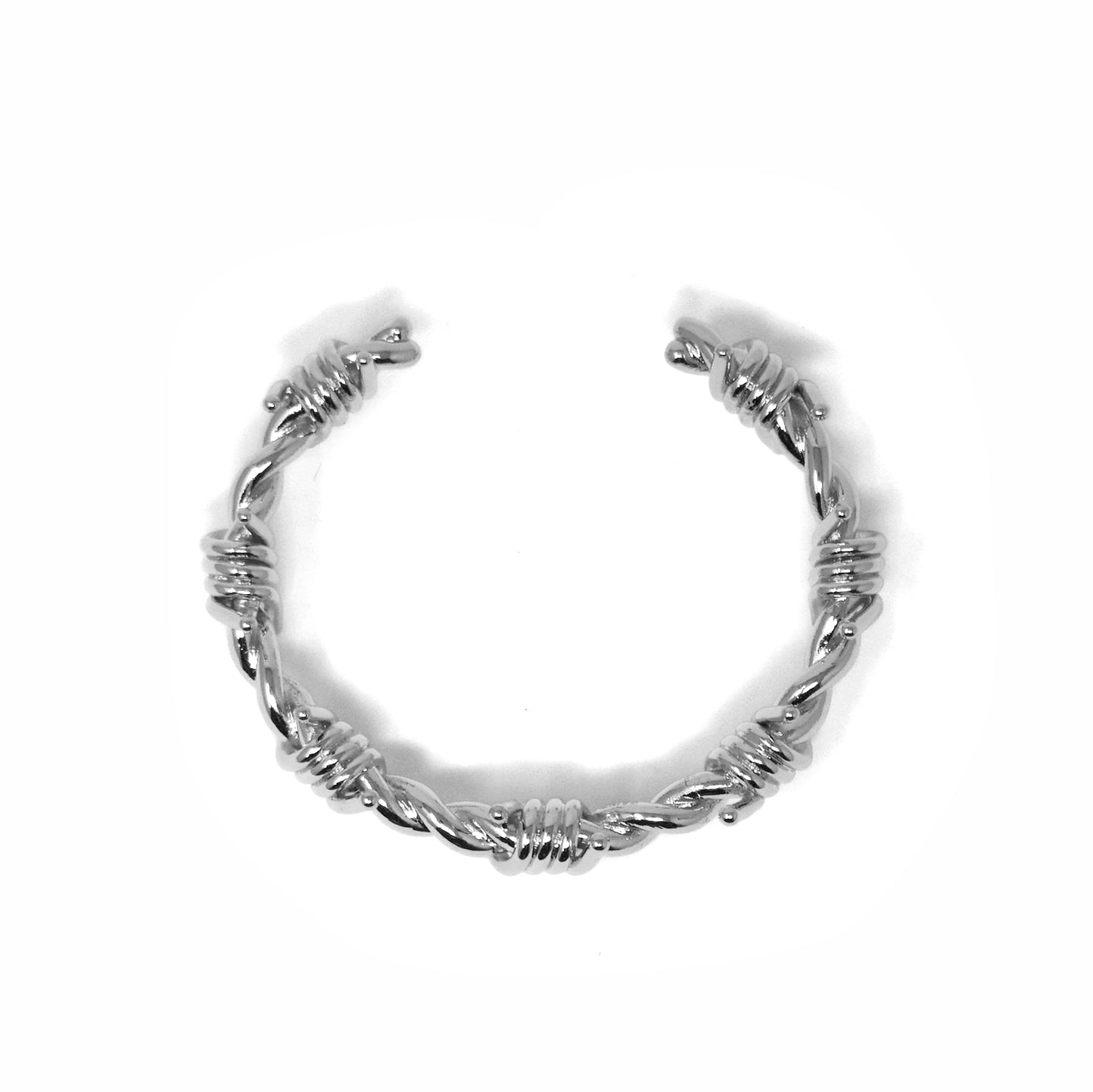 BP x Saint Midas White Gold Barbed Wire Bracelet