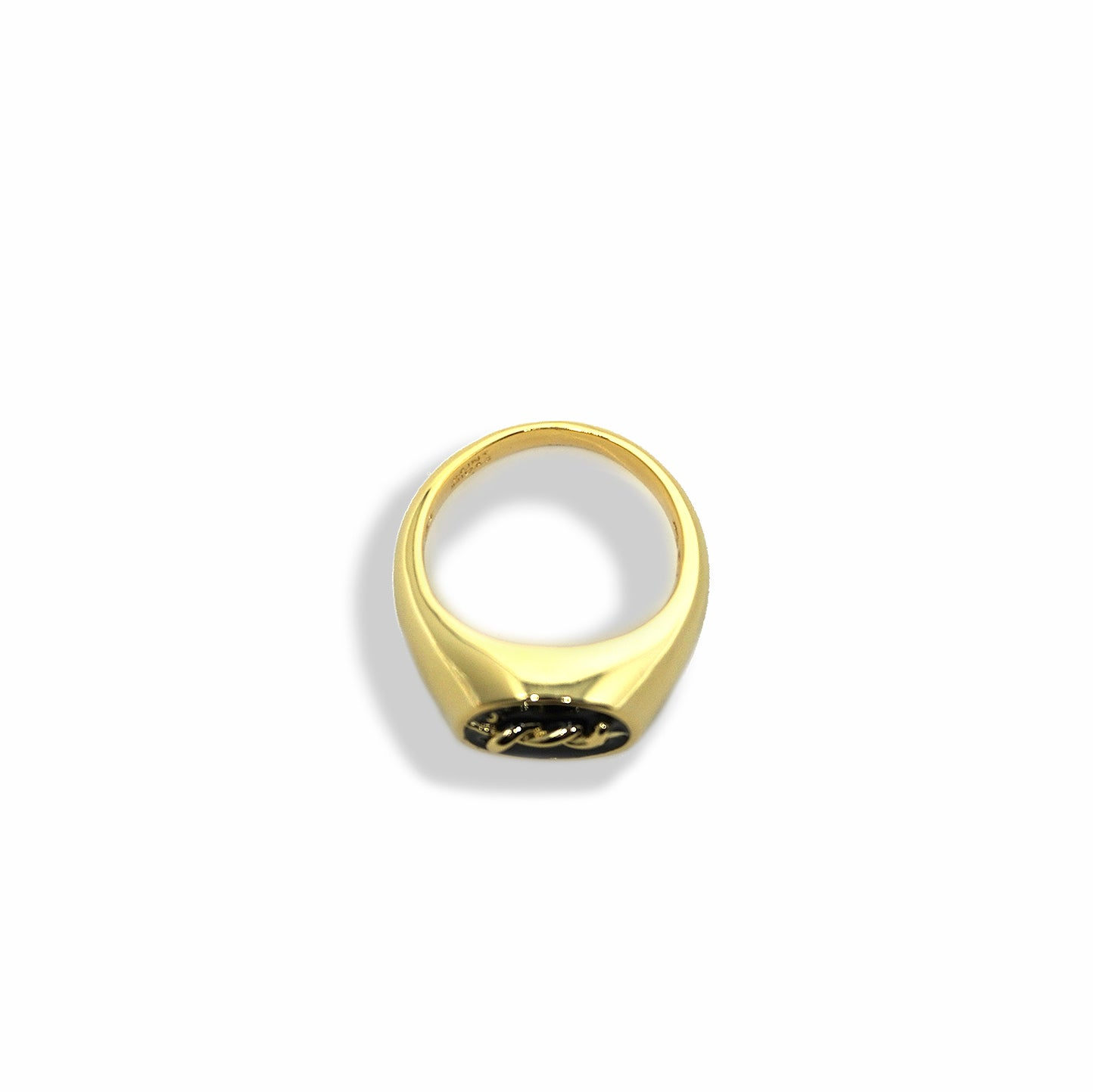 BP x Saint Midas Yellow Gold Barbed Signet Ring