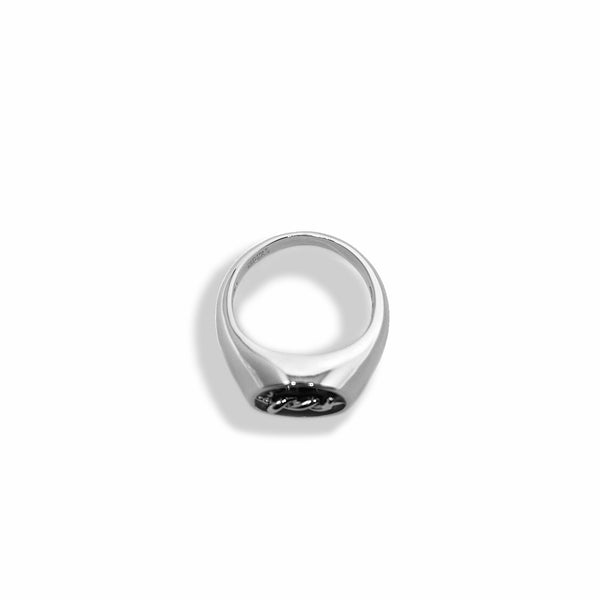 BP x Saint Midas White Gold Barbed Signet Ring