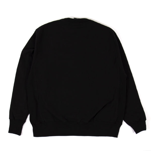 Dropout Tonal Embroidered Champion Reverse Weave Crew Black