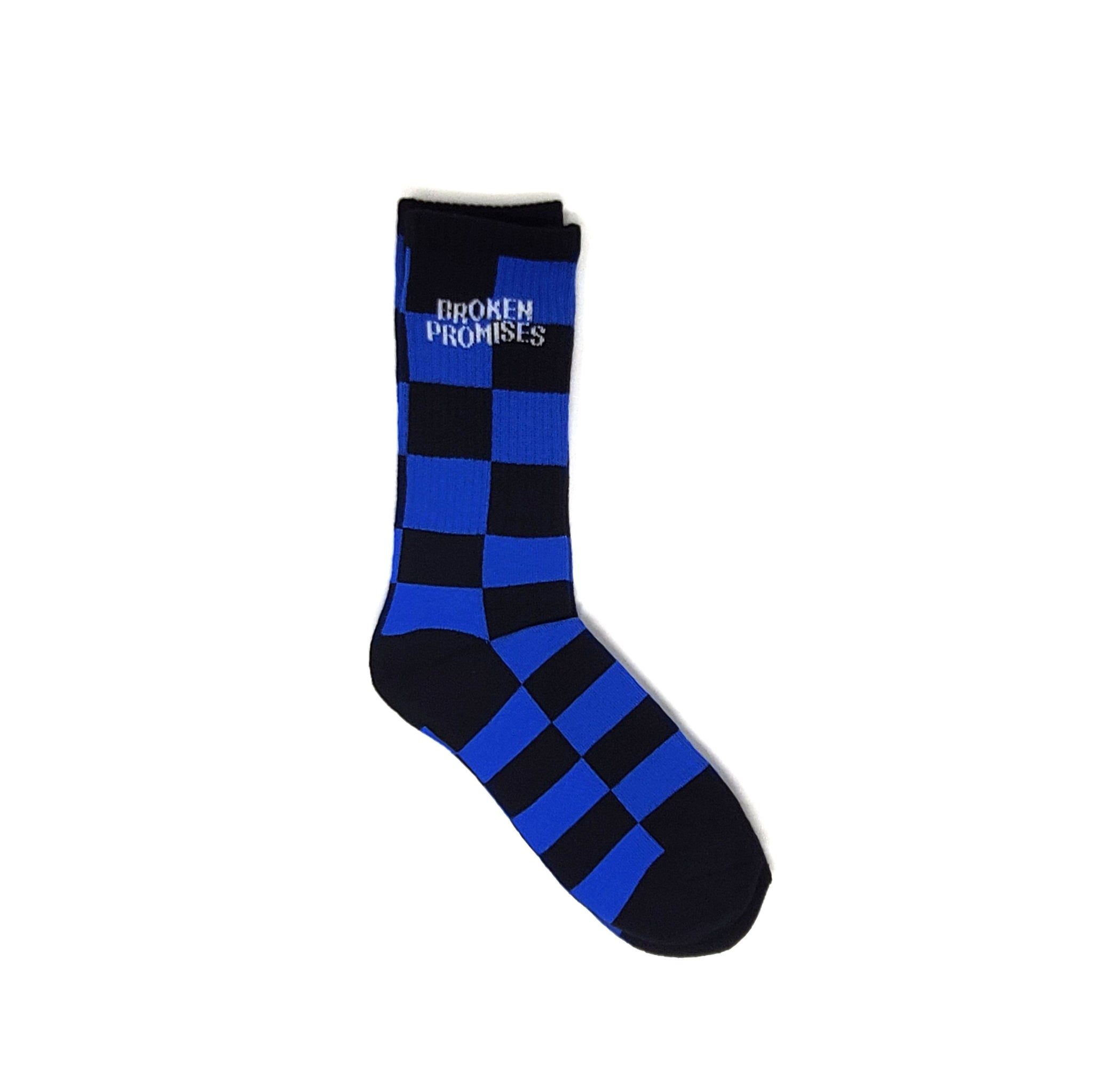 Check Sock Blue/Blk