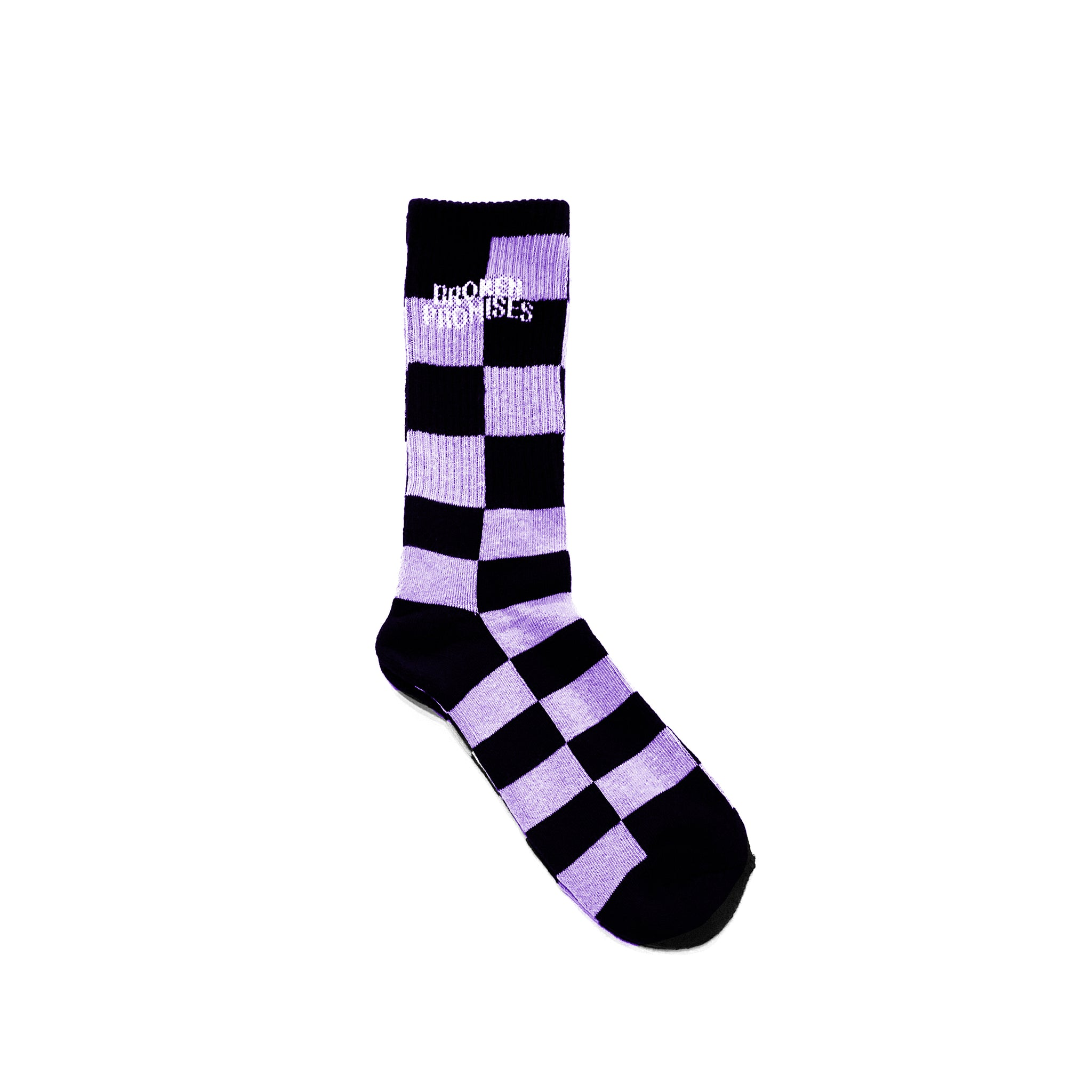 Check Sock Lavender/Blk