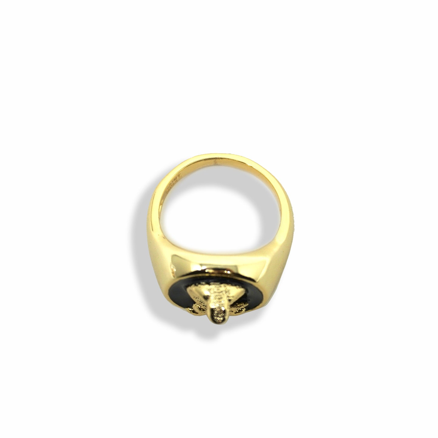 BP x Saint Midas Yellow Gold Cobra Signet Ring