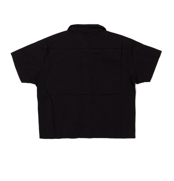 FMN Crop Button-Up Woven Shirt