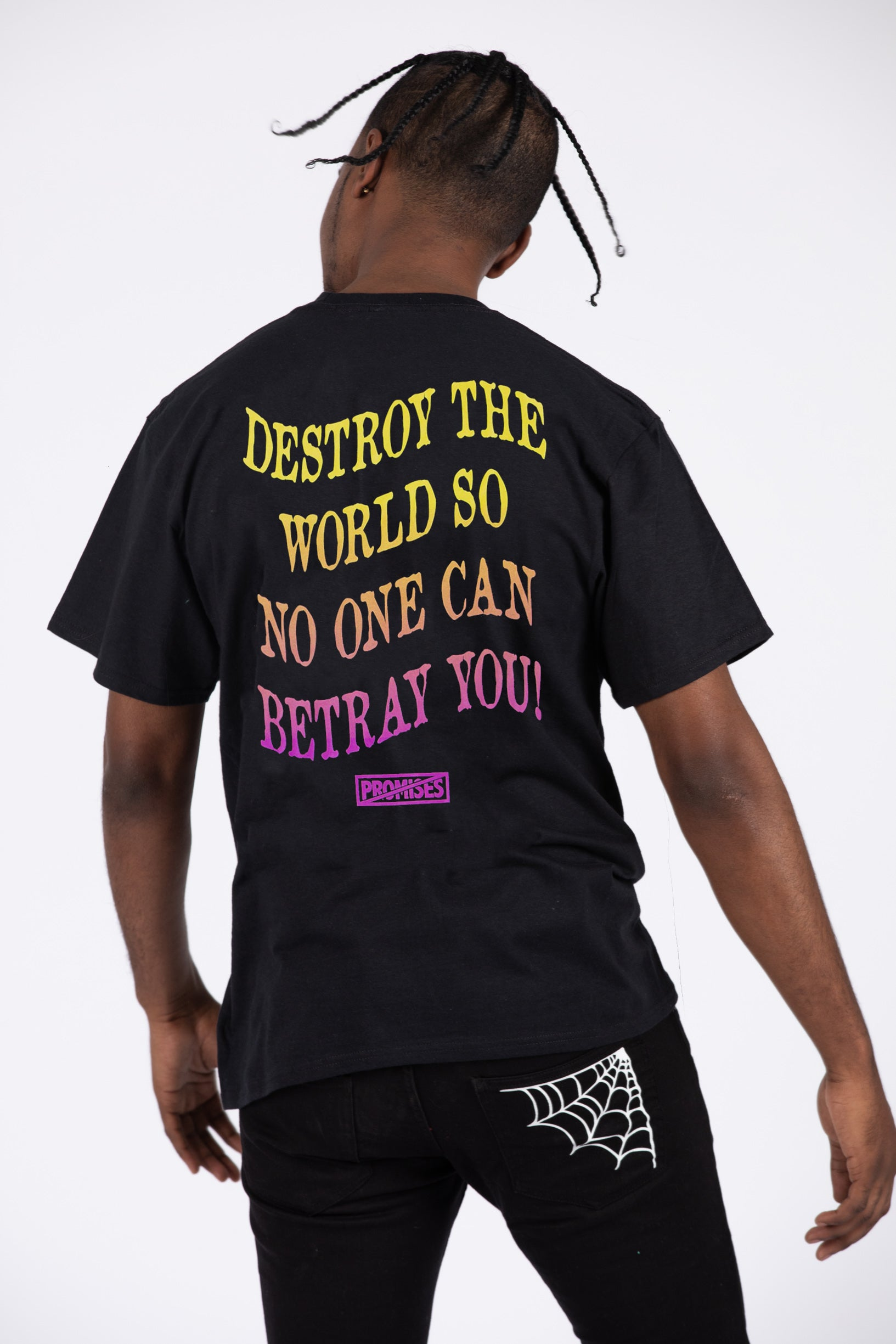 Destroy The World S/S Blk