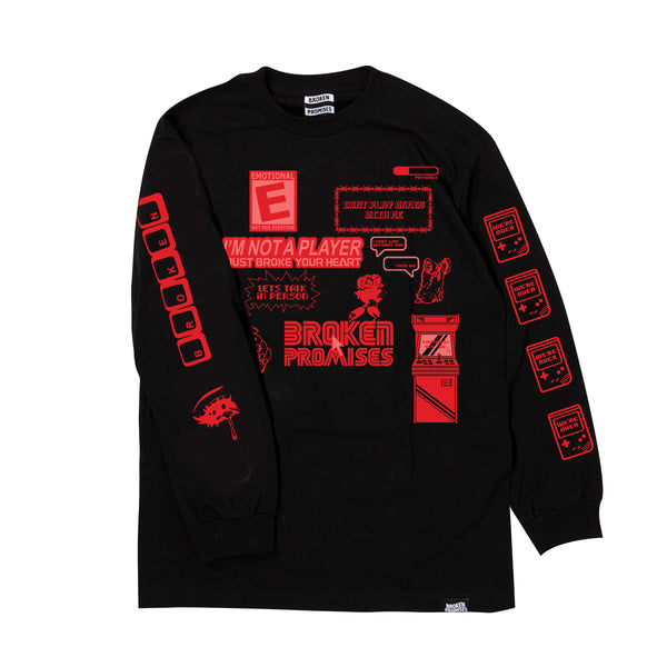 Don't Play Games L/S Black