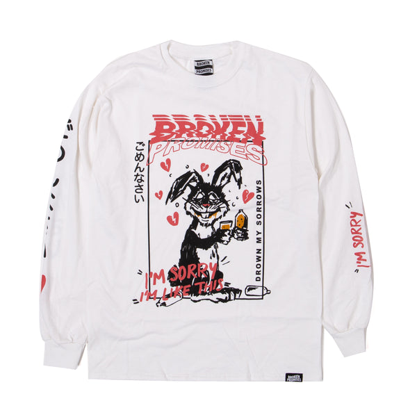 Drown My Sorrows L/S White