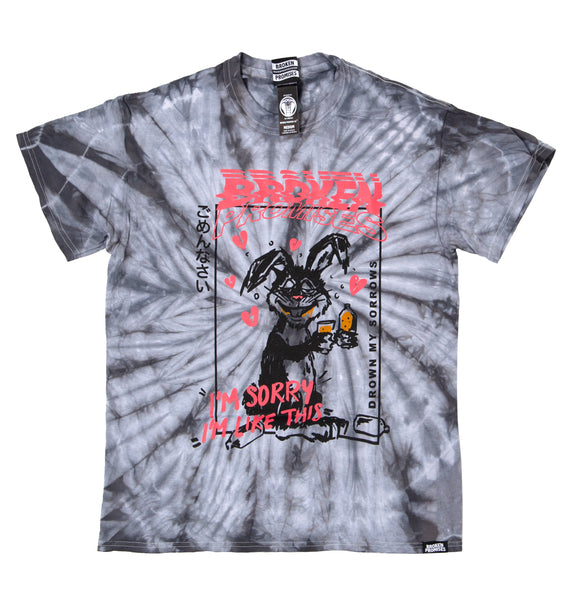 Drown My Sorrows Spider Dye Silver Tee