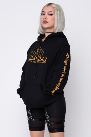 Evermore Hoodie Blk/Yellow