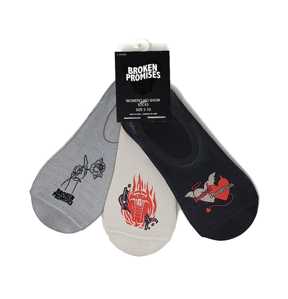 Good & Evil No-Show Sock 3-Pack