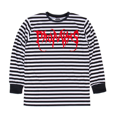 Graveyard Striped L/S Blk/Wht