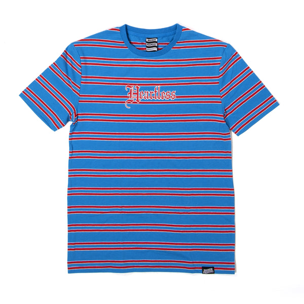 "Heartless Stripe Tee ""Blue"""