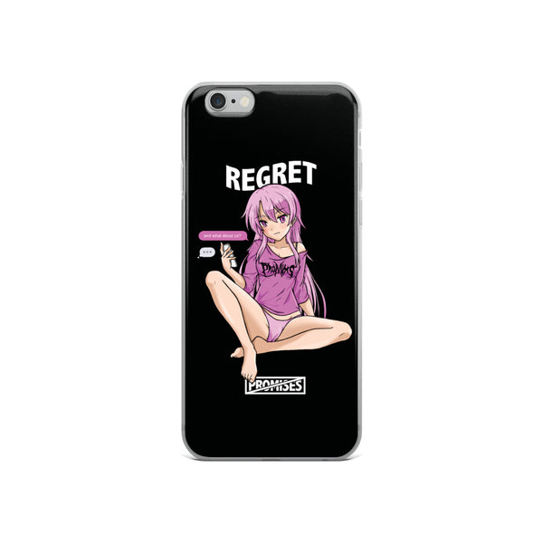 Regret Anime Girl iPhone Case