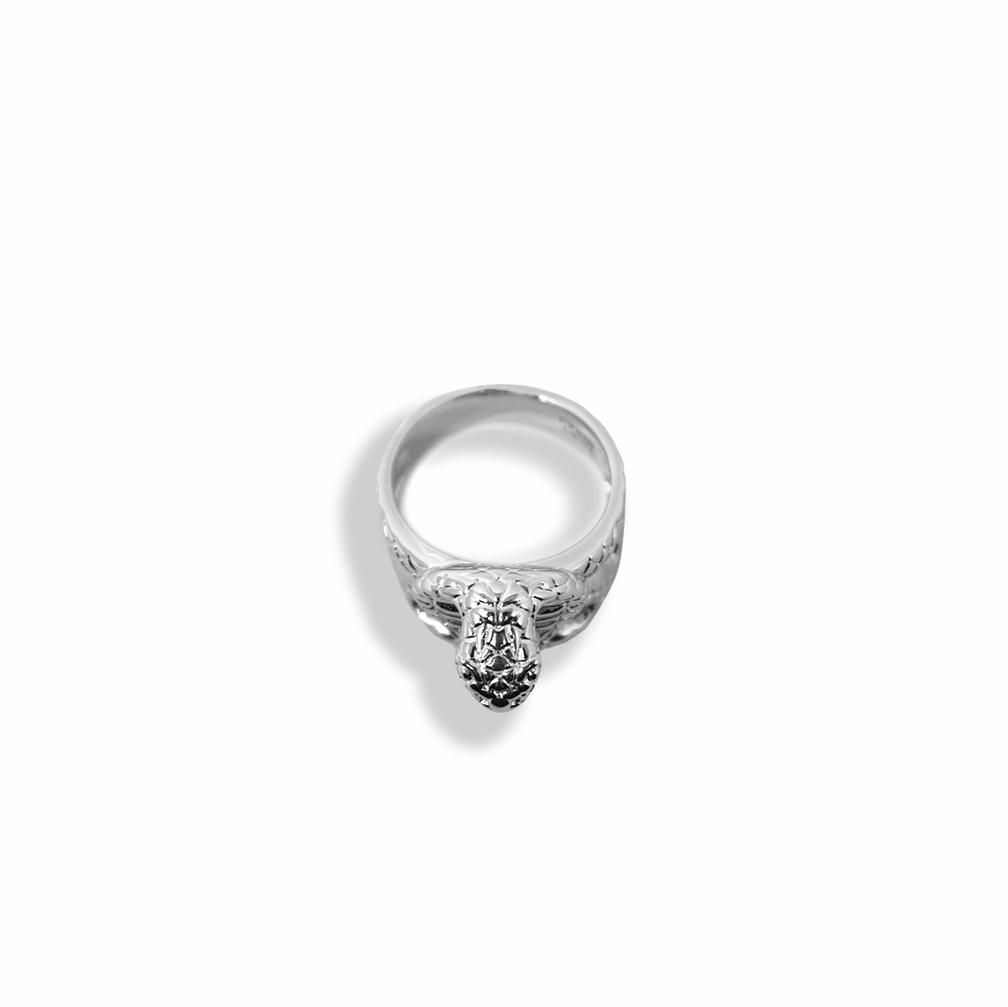 BP x Saint Midas White Gold Molded Cobra Head Ring