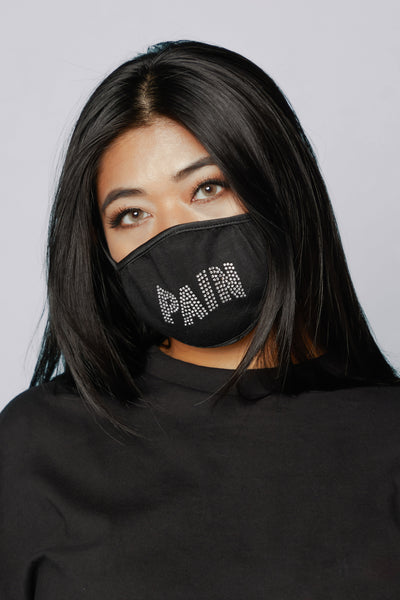 Pain Rhinestone Face Covering